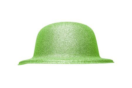 festive occasions: Glitter Party Hat. Isolated on white background. Stock Photo