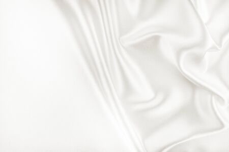 white silk: White Silk Fabric for Drapery Abstract Background Stock Photo