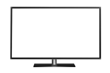 현대 빈 평면 스크린 TV 세트. 흰색 배경에 고립입니다.