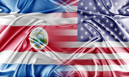 provocation: USA and Costa Rica. Relations between two countries. Conceptual image.