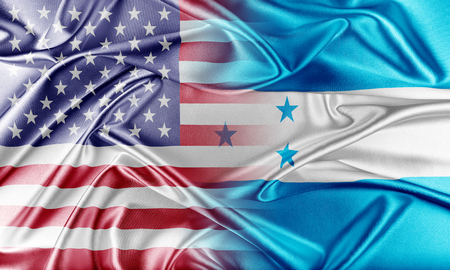 USA and Honduras. Relations between two countries. Conceptual image. photo