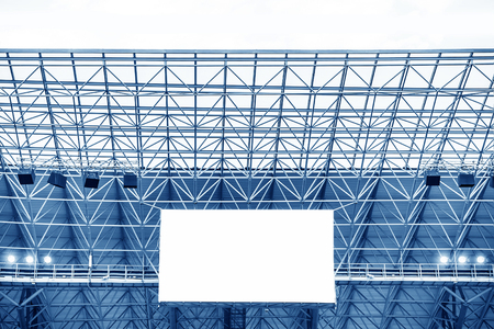 Electronic billboard display at stadium. Isolated for your text or image. Standard-Bild