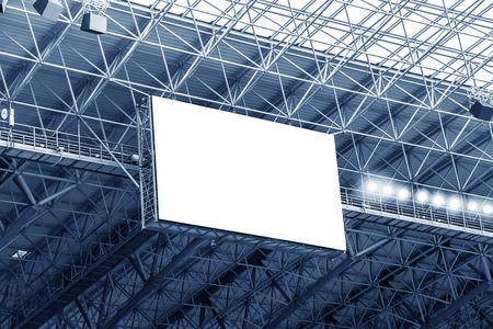 Electronic billboard display at stadium. Isolated for your text or image. Фото со стока