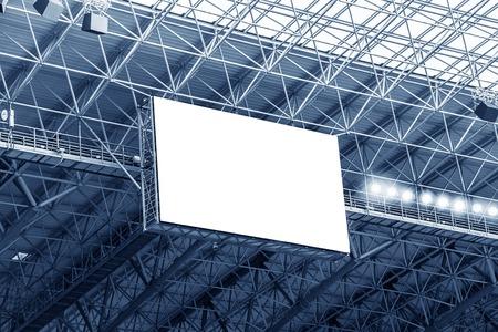 gradas estadio: Pantalla cartelera electrónica en el estadio. Aislado para el texto o imagen. Foto de archivo