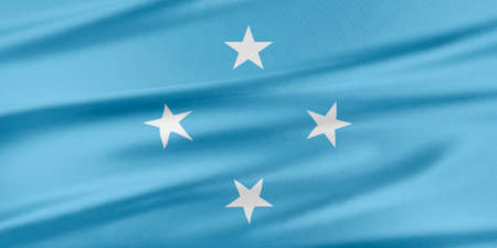 federated: Federated States of Micronesia Flag. Flag with a beautiful glossy silk texture.
