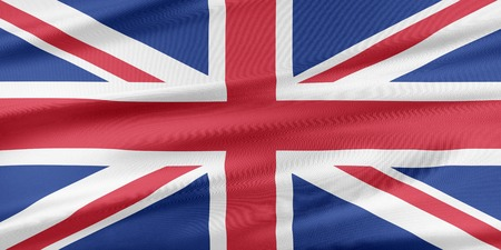 United Kingdom Flag. Flag with a beautiful glossy silk texture.