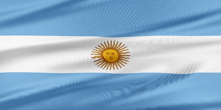 bandera de argentina: Argentina Flag. Flag with a beautiful glossy silk texture. Foto de archivo