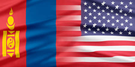 continental united states: United States Flag. Flag with a beautiful glossy silk texture. Stock Photo
