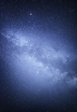 Milky way galaxy. Stars at night sky.