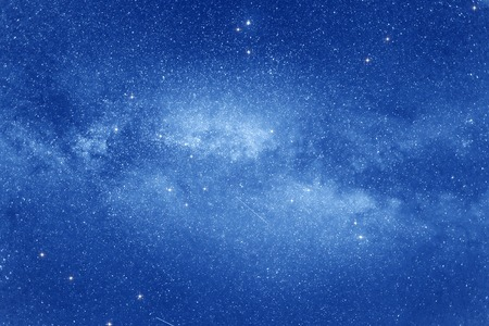 blue stars: Starry sky with many stars and Milky way on the space background.
