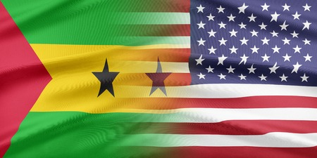 principe: Las relaciones entre los dos países. EE.UU. y Santo Tomé y Príncipe Foto de archivo