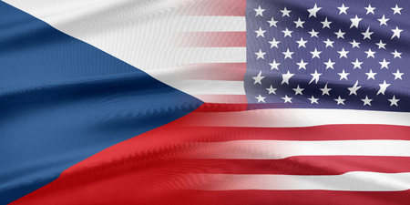 provocation: Relations between two countries. USA and Czech Republic. Stock Photo