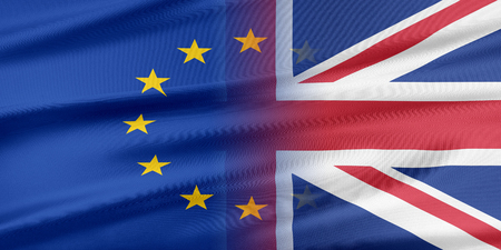 provocation: European Union and United Kingdom. The concept of relationship between EU and United Kingdom. Stock Photo
