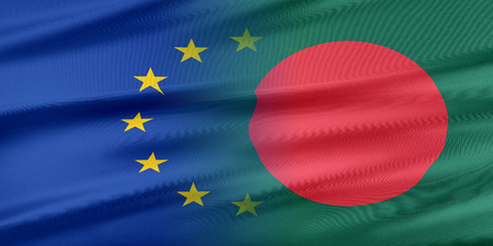 provocation: European Union and Bangladesh. The concept of relationship between EU and Bangladesh. Stock Photo