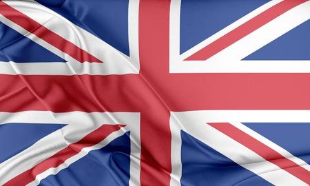 britan: United Kingdom Flag. Flag with a beautiful glossy silk texture.