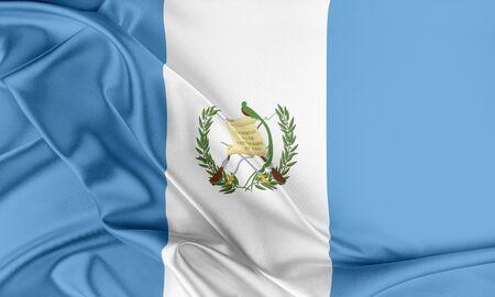 bandera de guatemala: Bandera de Guatemala. Bandera con una hermosa textura de seda brillante.