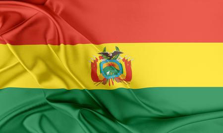 bandera de bolivia: Bandera de Bolivia. Bandera con una hermosa textura de seda brillante.