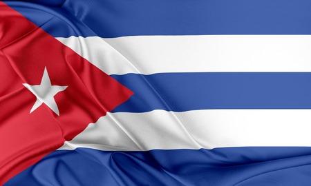 cuba flag: Cuba Flag. Flag with a beautiful glossy silk texture.