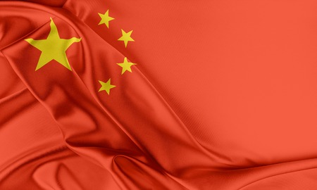 china: China Flag. Flag with a beautiful glossy silk texture.