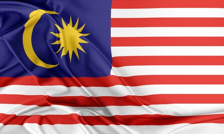Malaysia Flag. Flag with a beautiful glossy silk texture.