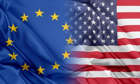 provocation: Relations between two countries. USA and Europe Stock Photo