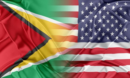 guyana: Relations between two countries. USA and Guyana Stock Photo