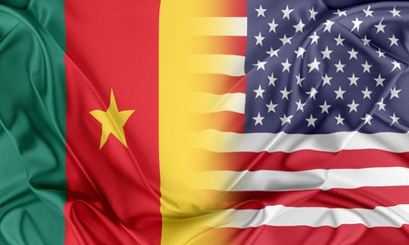 cameroon: Relations between two countries. USA and Cameroon Stock Photo