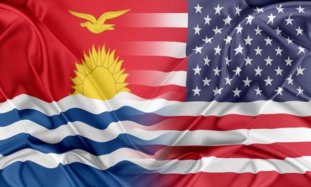 kiribati: Relations between two countries. USA and Kiribati Stock Photo