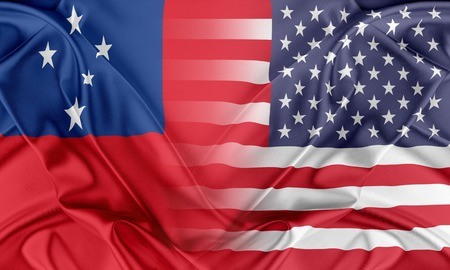 Relations between two countries. USA and Samoa