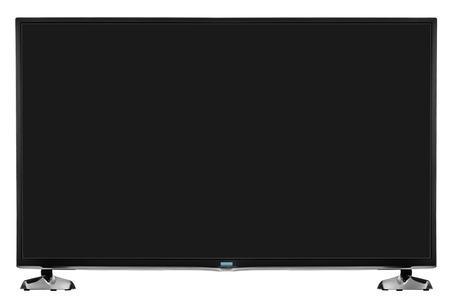 tv set: Modern blank flat screen TV set. Isolated on white background.