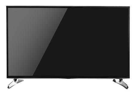 tv set: Blank flat screen TV set. Isolated on white background. Stock Photo