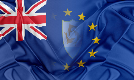 anguilla: European Union and Anguilla. The concept of relationship between EU and Anguilla. Stock Photo