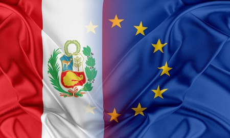provocation: European Union and Peru. The concept of relationship between EU and Peru. Stock Photo