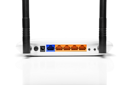 cdma: Wifi router isolated on a white background.