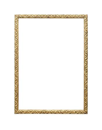 Ancien cadre photo isolé sur fond blanc. Banque d'images - 44387440