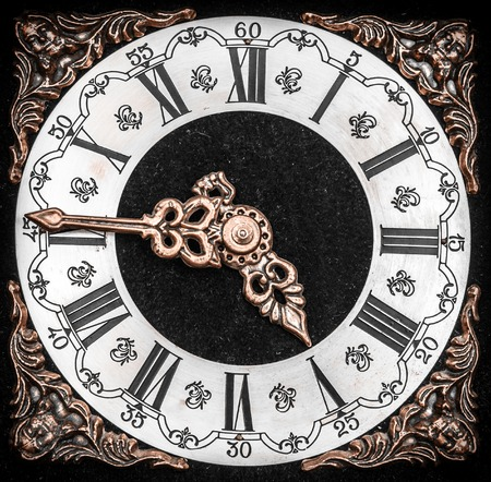 clock face: Vintage clock face with grunge texture. Time concept.