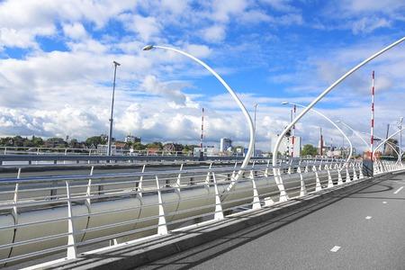 highroad: Details of car modern drawbridge in Holland.