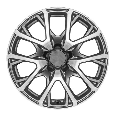 alloy wheel: Car wheel. Alloy wheel for a car on a white background.
