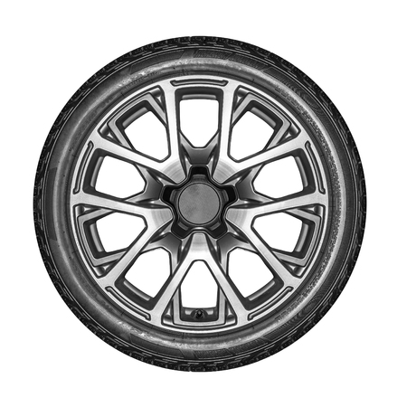 alloy wheel: Car wheel. Unbranded car alloy wheel for isolated on a white background.