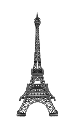 knack: Eiffel tower isolated on white background. High-quality model. Stock Photo