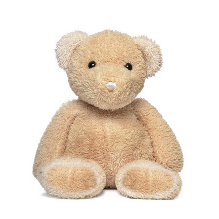oso: Toy oso de peluche aislado en un blanco.