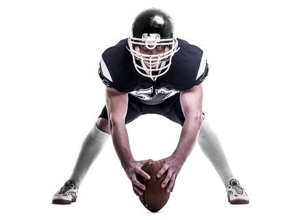 jugador de futbol: Jugador de f�tbol americano aisladas sobre fondo blanco