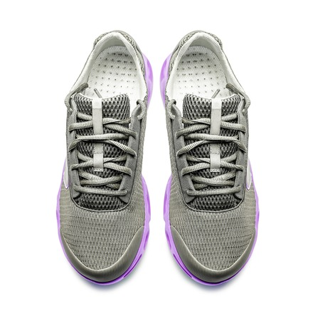 Unbranded modern sneakers isolated on a white background. Top view. Stock Photo