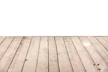 plataforma: Plataforma de madera aislado en un fondo blanco.