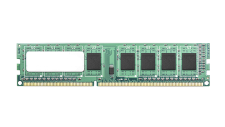 microcomputer: Computer memory isolated on a white background.