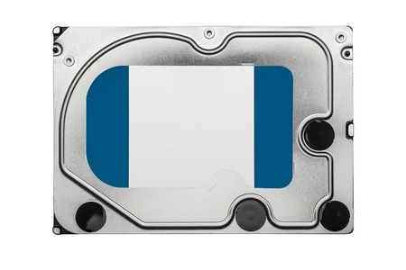gigabyte: Hard disk drive HDD isolated on white background.