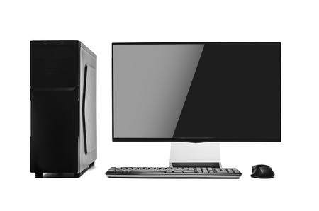 tft: Desktop computer isolated on a white background.