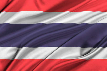 solemn: Flag of Thailand waving in the wind.