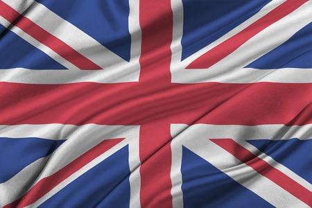 britan: Flag of Great Britan waving in the wind.