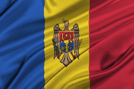 moldova: Flag of Moldova waving in the wind.